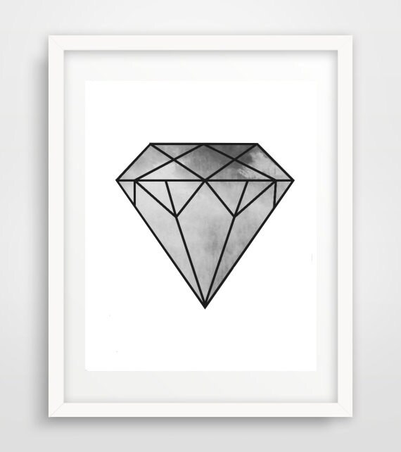 Diamond Print Geometric Art Print Printable By Honeytreeprints