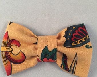 handmade dog bow tattoo inspired