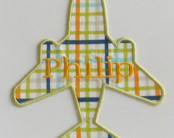Personalized Airplane Iron-On Applique