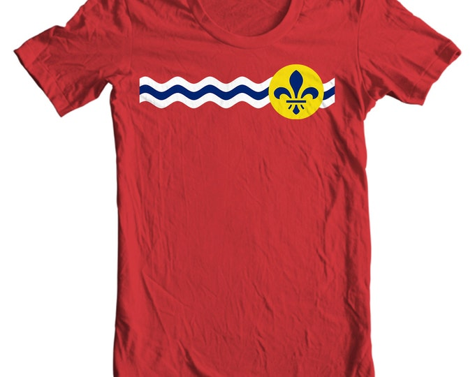 St. Louis T-shirt - St. Louis Missouri City Flag - St. Louis T-shirt