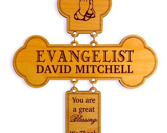 Appreciation Gift for Evangelist-Pastor-Deacon, Thank You Church Minister Birthday-Christmas-Recognition of Service-Commitment-Anniversary.