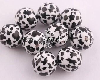 20mm acrylic COW PRINT beads