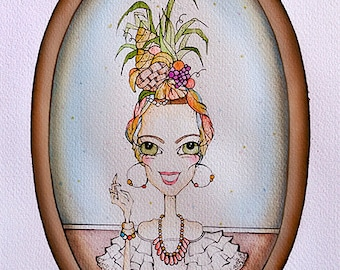 Illustration Carmen Miranda