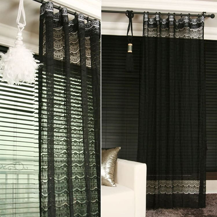 black lace sheer curtain drapery panel gallery photo gallery photo gallery photo