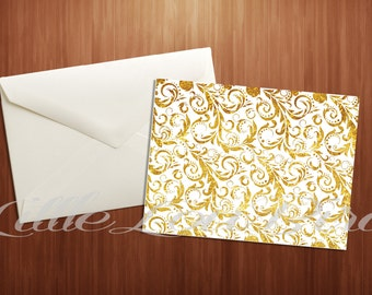 Gold Foil Greeting or Thank You Card