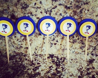 12 ct. Sonic the Hedgehog Cupcake Toppers