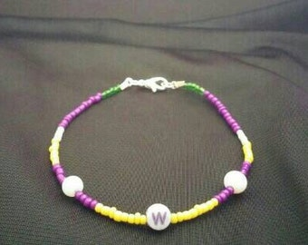 Wario (Mario) Inspired Handmade Beaded Bracelet