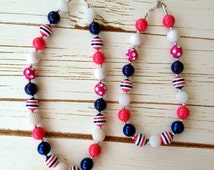 Mommy and Me Chunky Bubblegum Bead Necklace