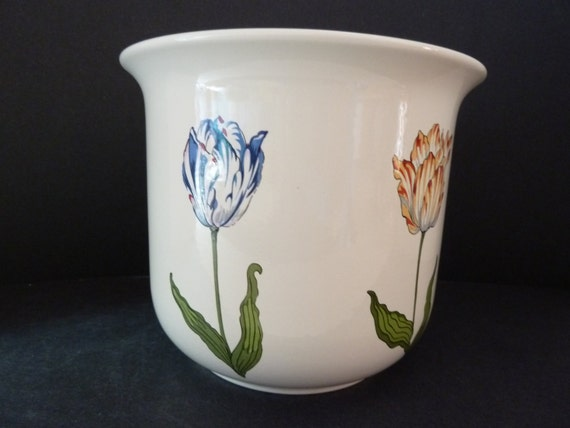 Tiffany co tulip pot planter cache pot - Cache pot plante ...