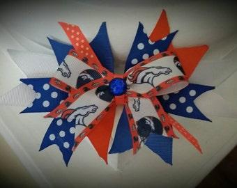 Denver Broncos Fancy Hair Bow