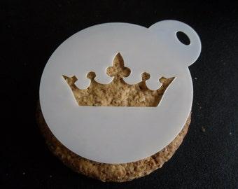 Unique bespoke new laser cut crown cookie / face painting stencil