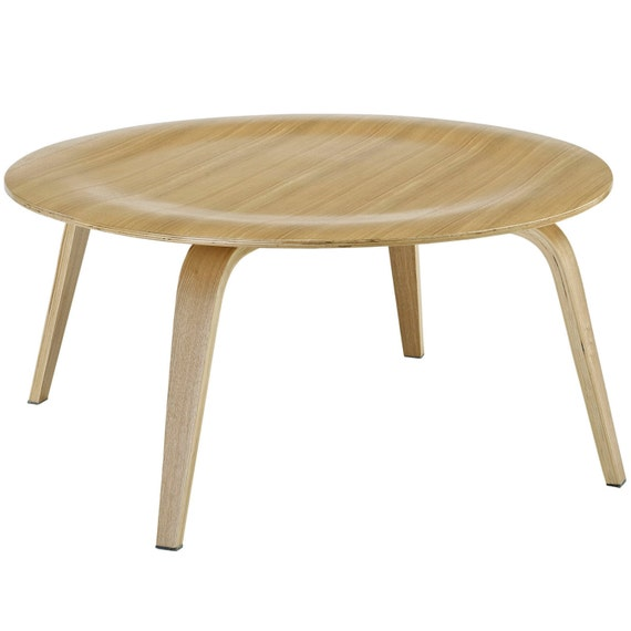 Eames style ctw plywood coffee table round by designonfront for Eames style coffee table