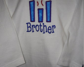 Embroidered Lil Brother-Boy's long sleeved Tee