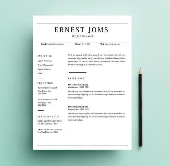 items similar to simple resume template minimal resume