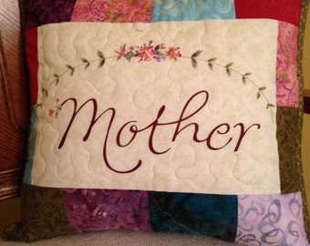 Quilted pillow for mother