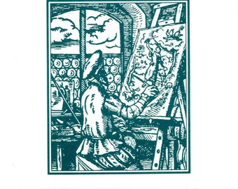 Series I, The Painter - Occupational Bookplate