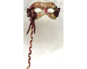 """Masquerade Masks """"Lady"""" for Woman, Mask with stick, available in many colors (Black, White, Blue, Red) D38/39/53/54/55"""