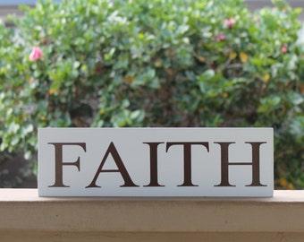FAITH wood sign