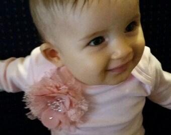 Pink onesie. Baby girl embellished onesie.Sizes 0000,000,00,0,1,2