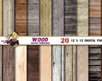 Wood digital paper, old rustic wood texture, pattern, craft supplies, rustic wedding, wood planks, wood scrapbook, distressed, wood grain