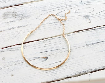 Gold plated clasp necklace