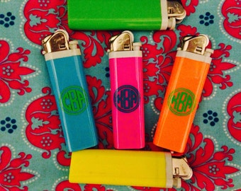 Neon monogrammed lighter (1 total)