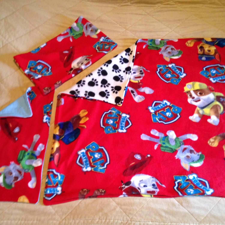 baby paw patrol fleece blanket burp rag and pillow set. Black Bedroom Furniture Sets. Home Design Ideas