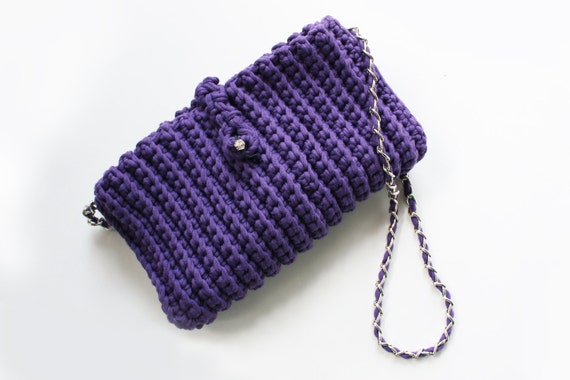 Handmade crochet bag strap by GioieDiGrazia on Etsy