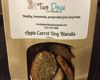 Homemade Apple Carrot Dog Biscuits