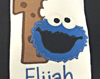 Cookie Monster Toddler Birthday Shirt