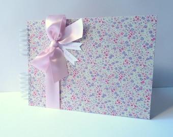 Album photo personalized fabric liberty Phoebe-a4 size