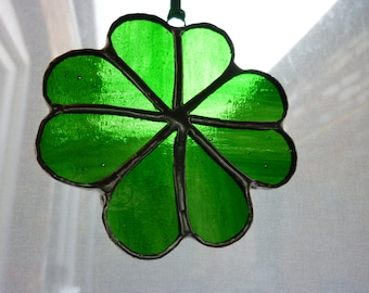 Stained Glass four  leaved clover suncatcher