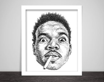 Scribbled Chance The Rapper - Hip Hop Poster