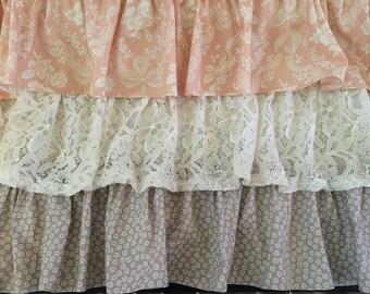 Shabby chic ruffle crib skirt