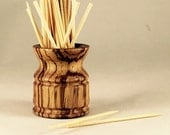 Toothpick Holder in Zebrawood