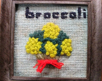 Broccoli Bunch in Crewel and Needlepoint