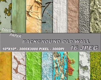 Digital paper. The texture of worn, old wall.  - background old wall  - seamless texture wall.