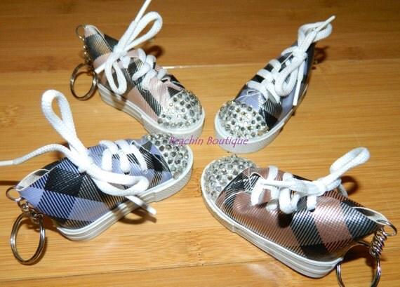 rhinestone tennis shoe key chains by beachinboutique on etsy