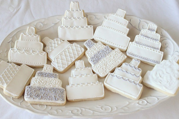 wedding cake cookies for bridal shower items similar to wedding cake sugar cookie bridal shower 22244