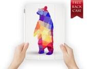 ipad air case leather smart cover bear for ipad mini ipad air 1 2 3 4 pro retina display geoanimal-01bear