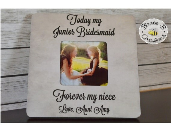 Wedding Gifts For Junior Bridesmaid : Junior Bridesmaid Picture Frame Today My by BizzeeBCreations