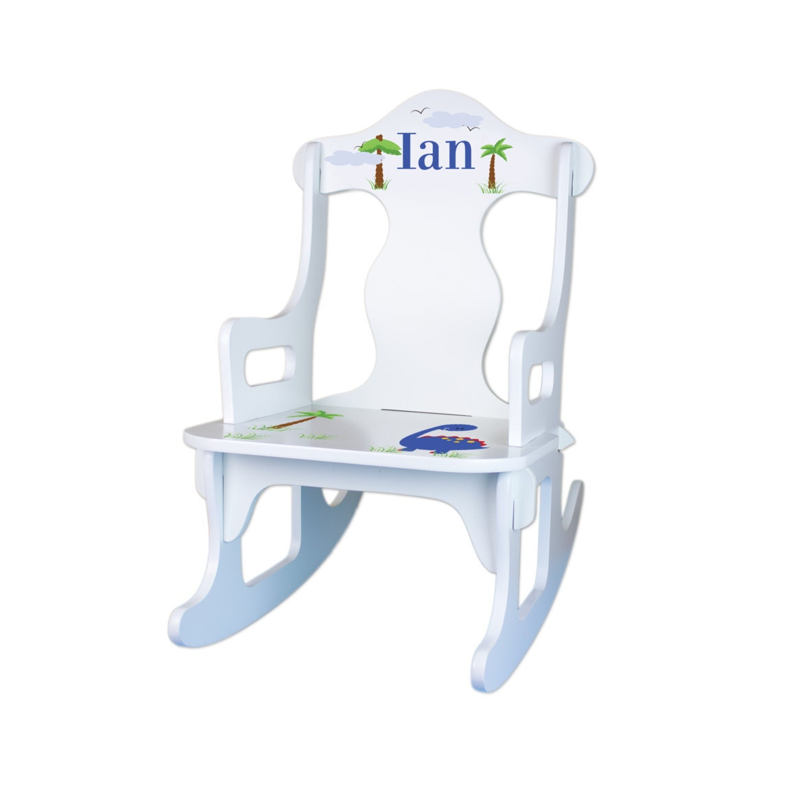 Personalized Kids Rocking Chair Custom White by WizkickGifts
