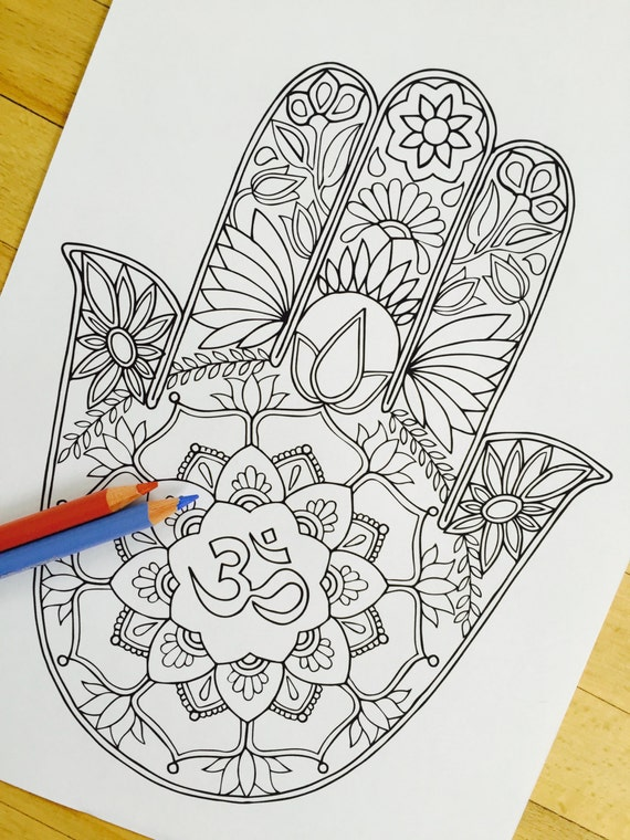 hamsa coloring pages - photo#34