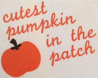 Cutest Pumpkin in the Patch Onesie