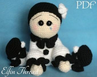 Elfin Thread - Pierrot Amigurumi PDF pattern (crochet pattern doll)