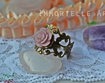 SALE! Lilac Style Vintage Rose Ring