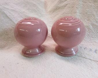 Vintage Fiesta Rose Salt and Pepper Shakers