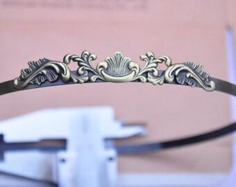 5PCS Of Antique bronze Headband hair Headbands hairbands with filigree flower 5mm