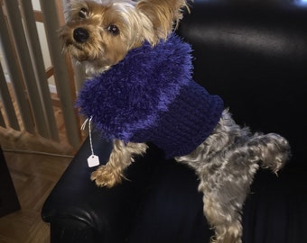 Navy blue dog sweater