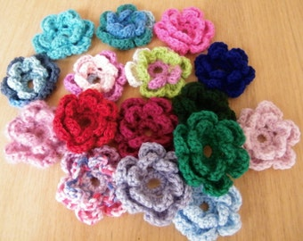 Hand crocheted flowers